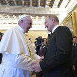 Audiência do Papa ao presidente russo Putin: cerca de uma hora de conversa